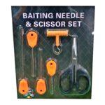 Kit Complet 3 Crosete+Burghiu+Foarfeca+Knot Puller 6 Piese/Blister Orange